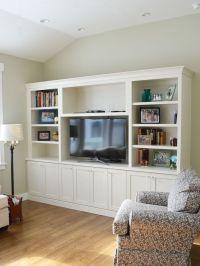 white entertainment centers / bookcase ...