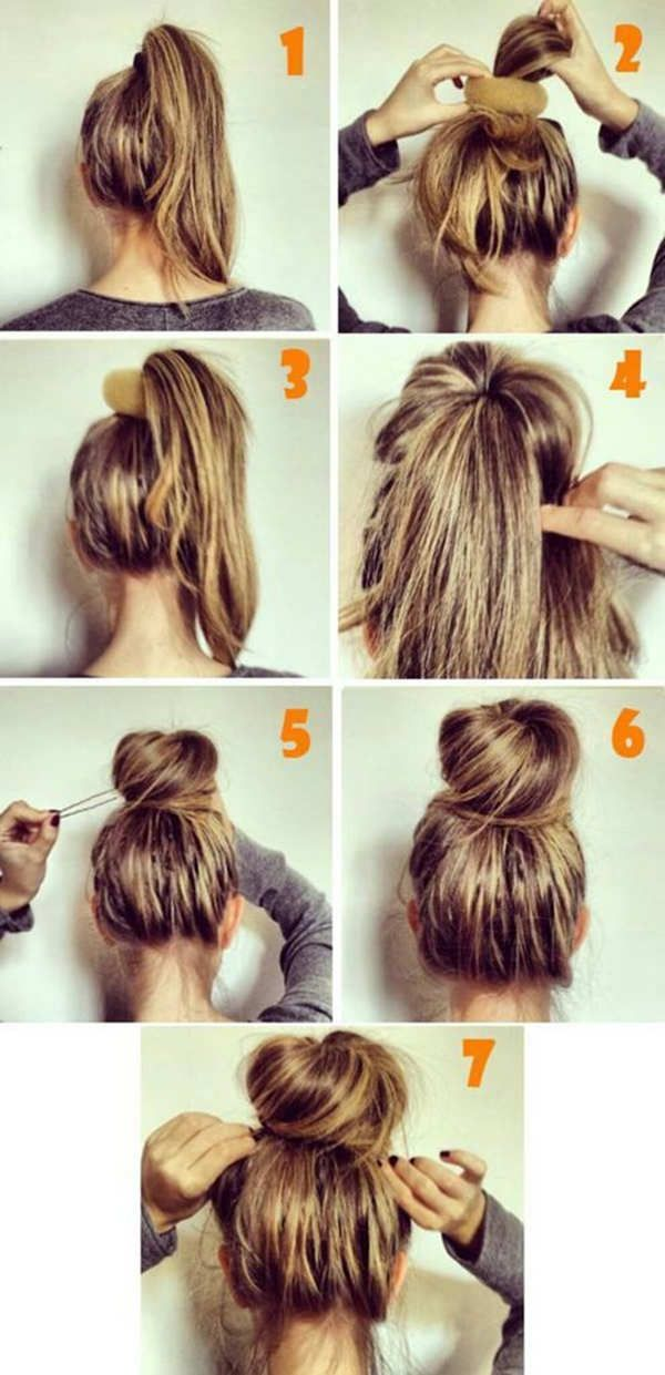 25 Best Ideas About Easy Bun Hairstyles On Pinterest Bun