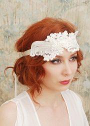 flapper headband 1920s wedding