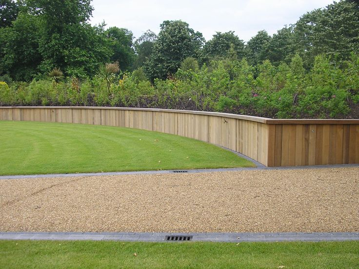 Hardwood Retaining Wall With Wooden Top Retaining Walls