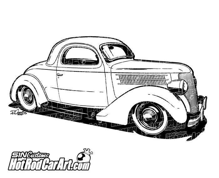 1947 chevy coupe hot rod