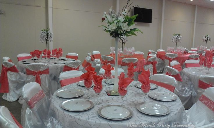 gray chair covers for weddings cedar adirondack chairs michigan silver and coral wedding - embroidery overlay over white base tablecloth, satin ...