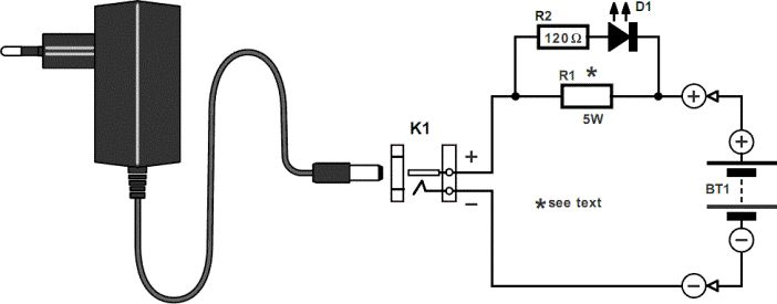 simple nicd charger circuit diagram