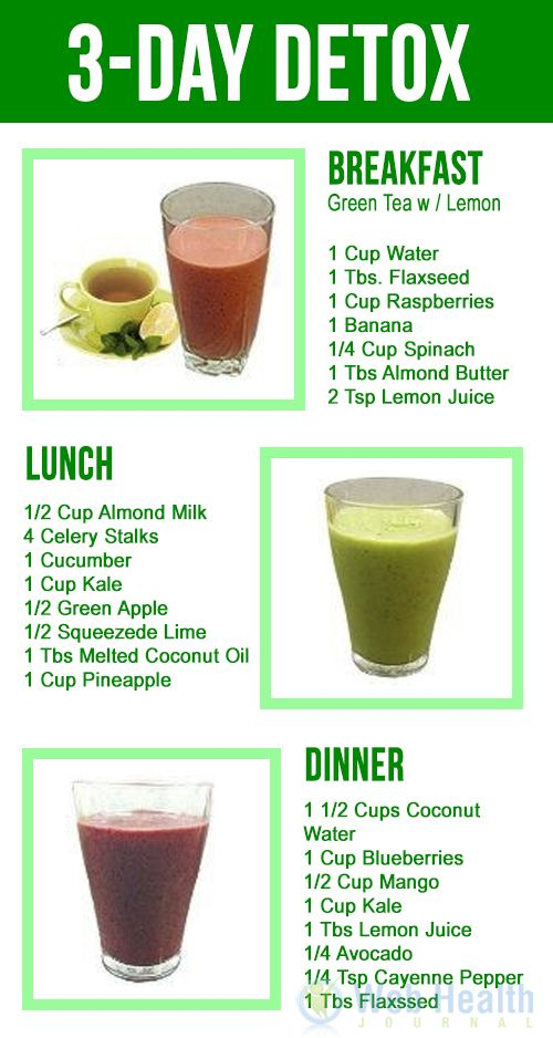 Weight loss/diet tips : 3-Day Detox