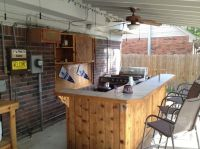 Incredible Outdoor Bar and Kitchens With Wall Mounted Wood ...