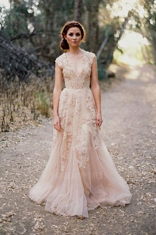 25+ best ideas about Rose gold wedding dress on Pinterest