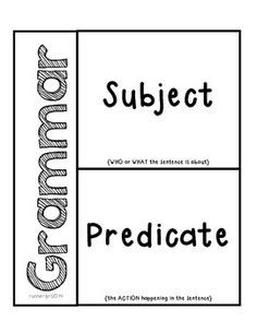 25+ best ideas about Subject predicate activities on