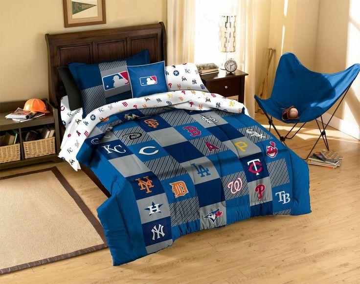 MLB Teams Twin Bed Quilt Comforter Sham Set Baseball Fan Sports Bedding Souvenir  Check It Out