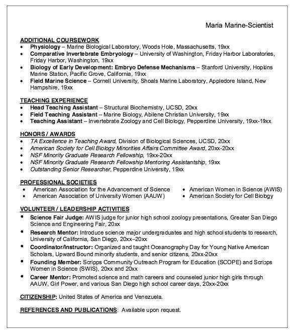 college ta resume example