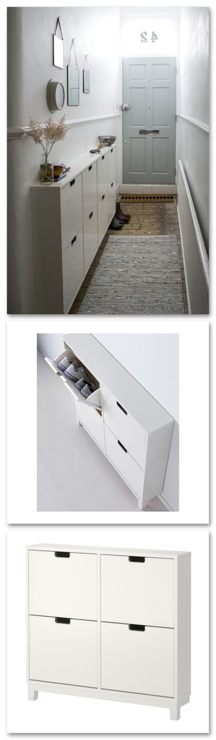 Perfect for a narrow hall Stall shoe cabinet from IKEA