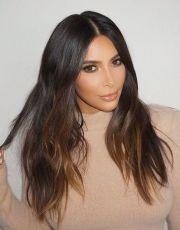 kim kardashian brown balayage