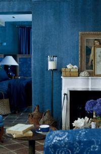 The deep, woven texture of Ralph Lauren Paint's Indigo ...
