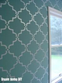 Stencils, Nursery accent walls and Valspar on Pinterest