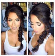 fishtail braid wedding makeup
