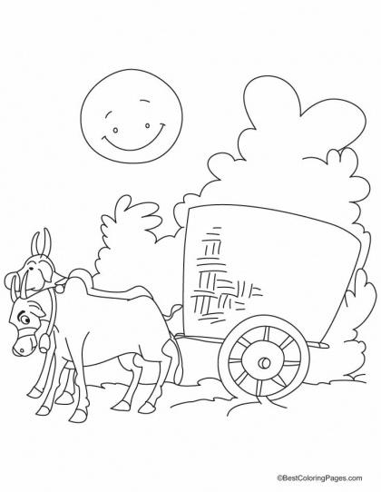 Ox Cart Drawing