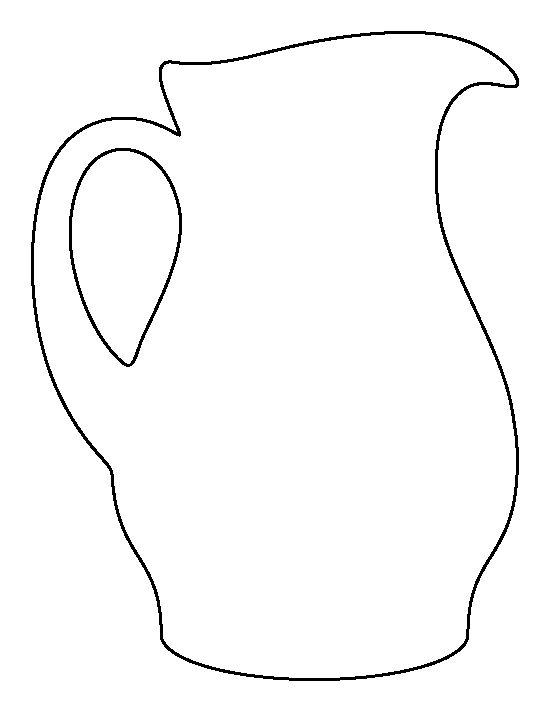 Pitcher pattern. Use the printable outline for crafts