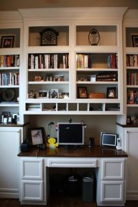 121 best images about Bookcases and Built-In Desks on ...