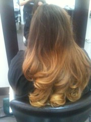 ombre hair brown blonde dip