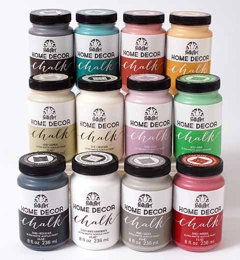 FolkArt  Home Decor Chalk 12 Color Set want Love this color palette of brights and