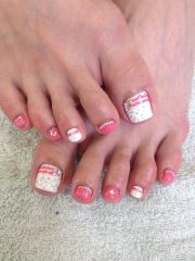 ideas pink toes