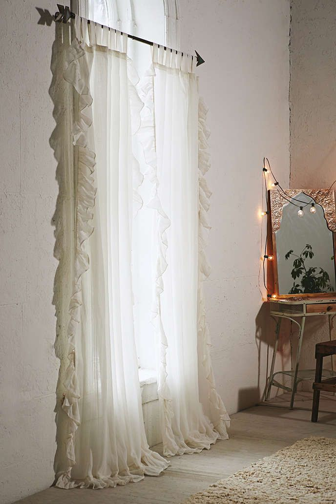 Ruffle Gauze Curtain Romantic Awesome Stuff And Urban Outfitters