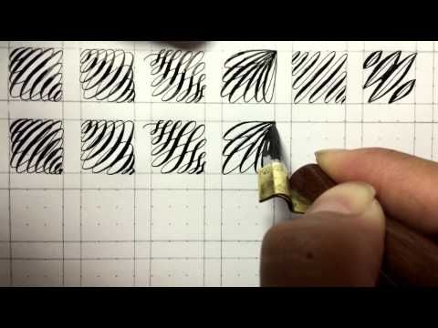 Fun Pointed Pen Calligraphy Drill Exercises – YouTube