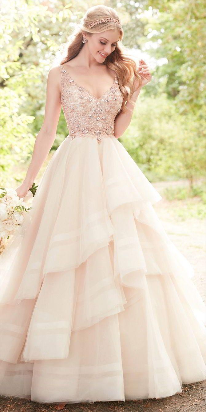 25+ best ideas about Rose gold wedding dress on Pinterest