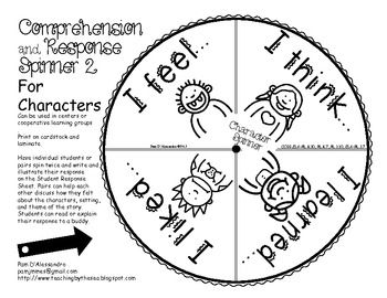 12 best images about Comprehension response activities on