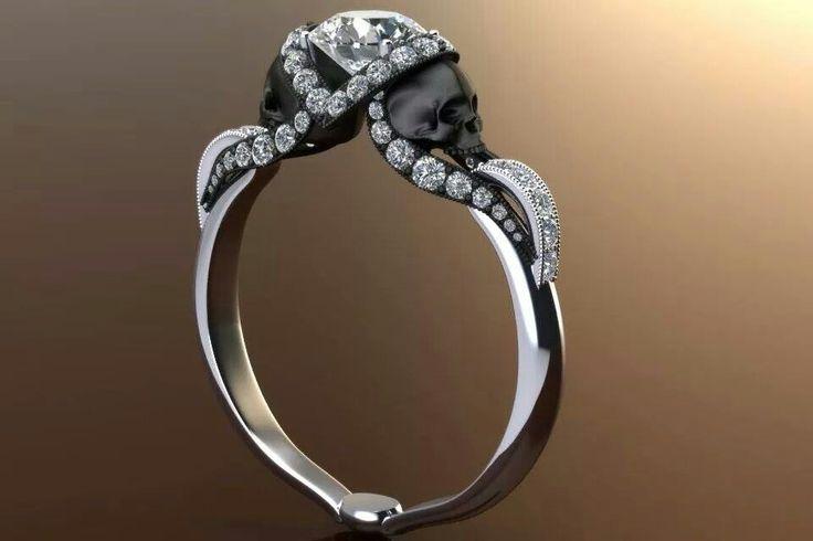 black skulls ring