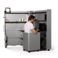 Modern Home Office Furniture on Wheels Allowing Flexible ...