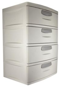 Plastic 4 Drawer Cabinet Storage Organizer Home Office ...