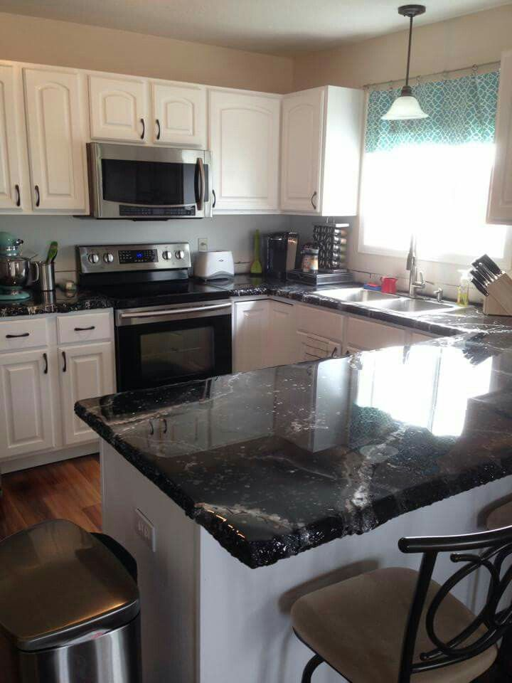 Custom Countertops Black Beauty And Beauty On Pinterest