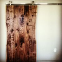 Live edge walnut slab door | wood working | Pinterest ...