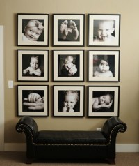 Large photos in entrance | Living room picture collage ...