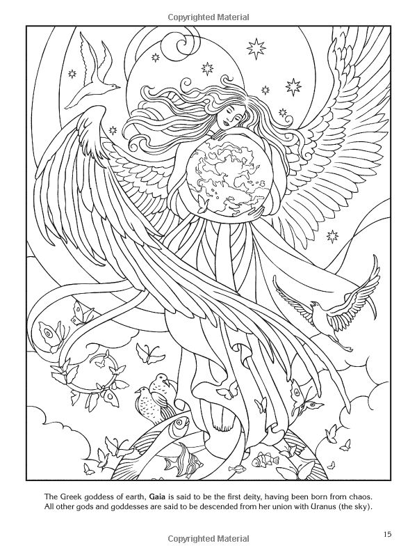 17 Best images about Goddess Coloring Pages on Pinterest