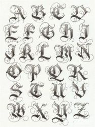 Gangster Cursive Letters : gangster, cursive, letters, Gangster, Tattoo, Lettering, Alphabet, Alfabeto, Completo