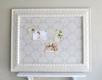 MEMO BOARD Fabric Magnetic Board Pinboard Ivory Grey ...