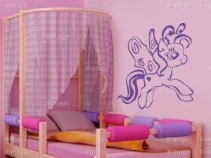 pony wall bedroom ponies decoration mlp