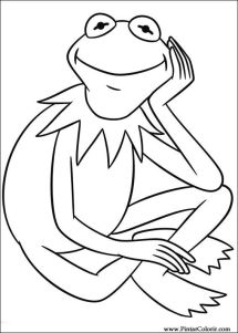 Pintar e Colorir Muppets Desenho 012 COLORING PAGES
