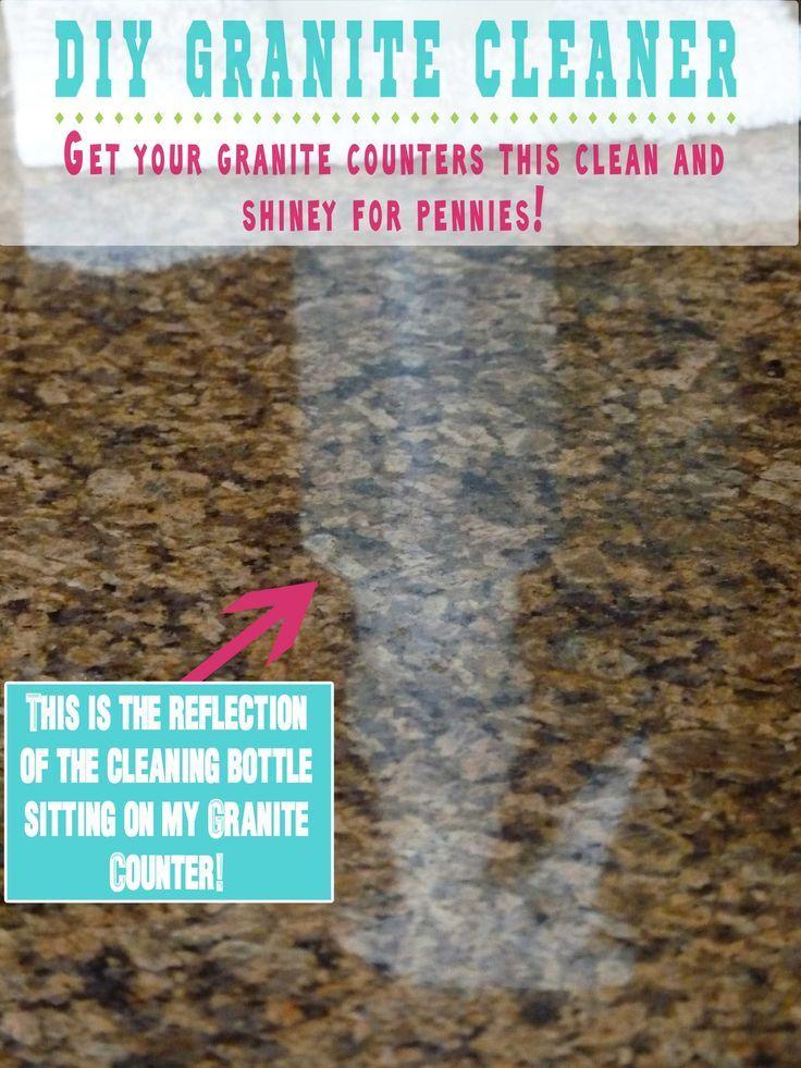 Diy granite cleaner 13c rubbing alcohol 3 drops dish