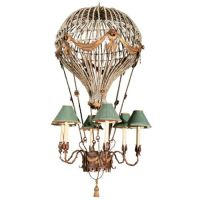 I love this so much! A hot air balloon light fixture ...