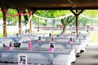 picnic table in pavillion weddings | picnic tables ...