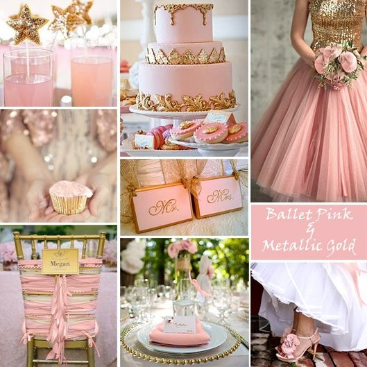 pink champagne wedding theme  Wedding ideas  Pinterest  Polos Colors and Ballet