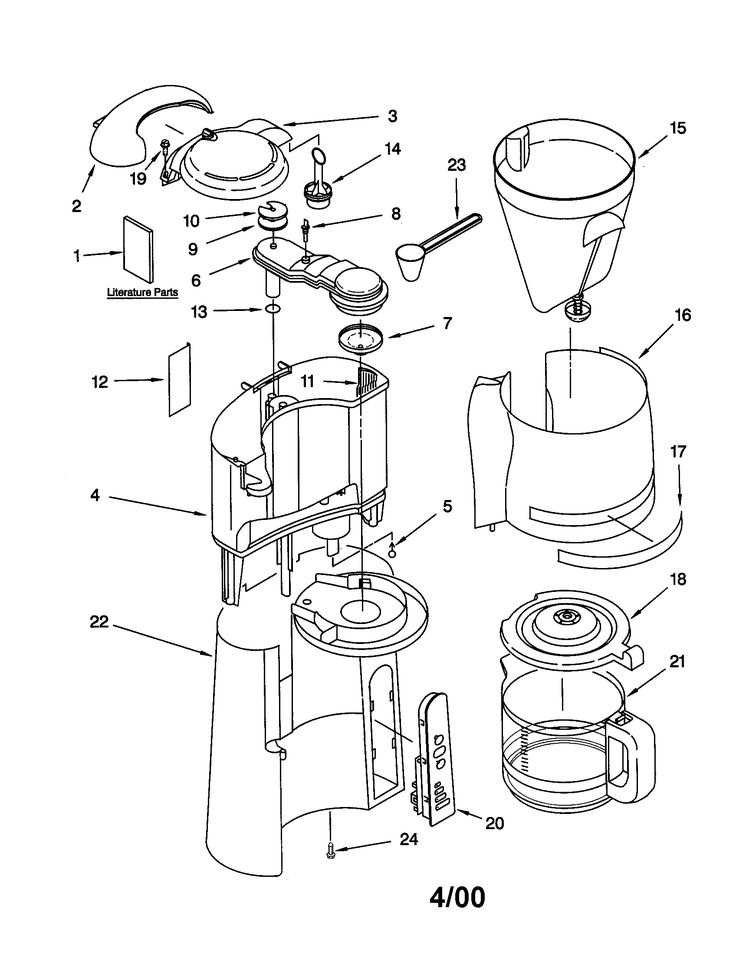 coffee maker schematic diagram