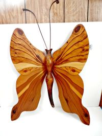 Sale vintage large wooden butterfly wall art mid century ...