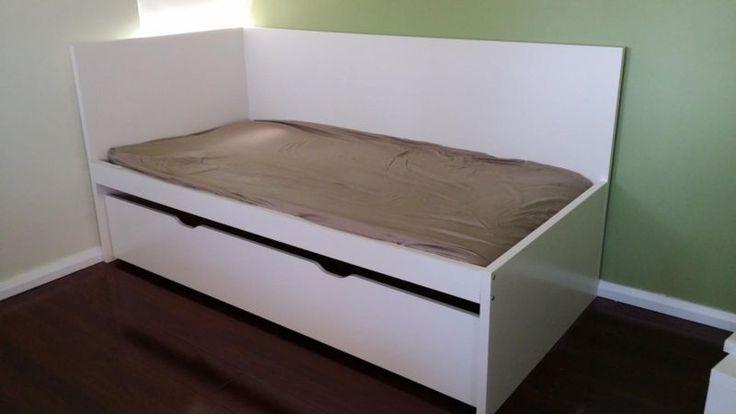 HARDLY USED Ikea FLAXA bed  trundle with headboard  base
