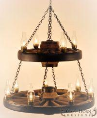 10+ ideas about Wagon Wheel Chandelier on Pinterest ...