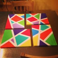 DIY canvas painting using painters tape | Home ideas ...