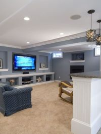 PERFECT built in TV and shelves for basement recessed wall ...