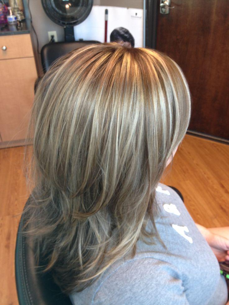 Blonde highlights  lowlights  long layered hair  Hair